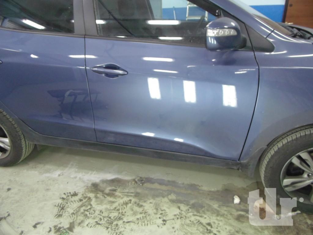 Hyundaiix35 после локального ремонта двери с правой стороны